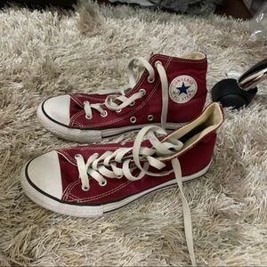 Maroon High-Top Converse